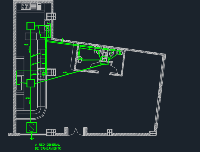 Coffe Bar With Geometric Architecture 2d Dwg Design