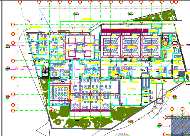 Convention Center With Floor Plans 2d Dwg Design Plan For