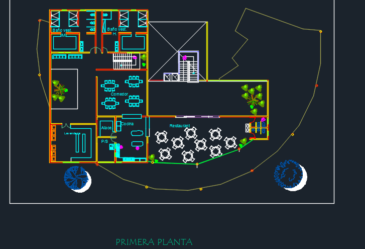 Family Hotel With Parking And Floor Plans 2d Dwg Elevation