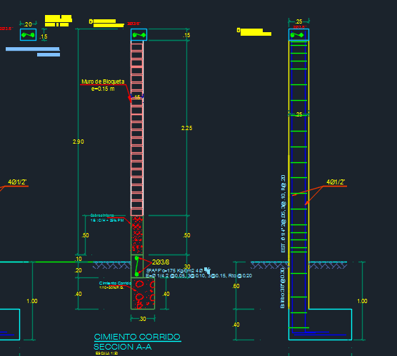 Fence Perimetric With Foundations 2D DWG Design Elevation for AutoCAD – Designs CAD