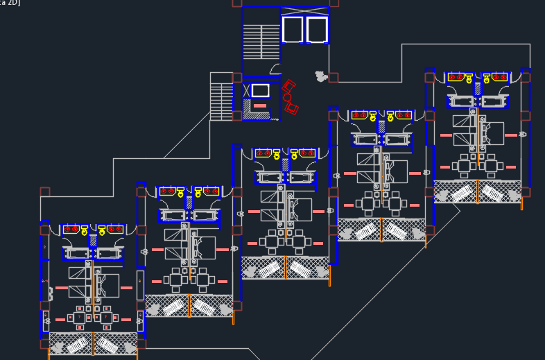 five stars hotel with parking 2d dwg design plan for hotel room electrical plan