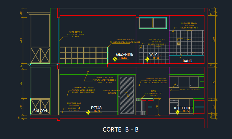 Hotel suite with gym and floor plans d dwg design section