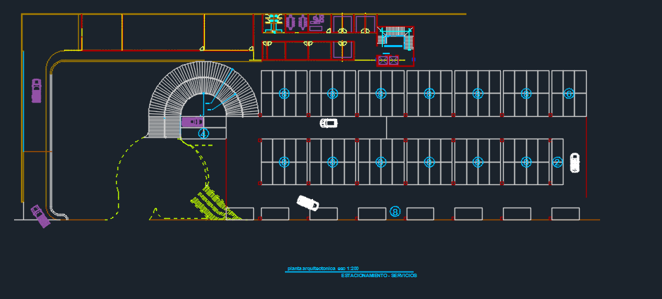 Luxury Hotel With Pool And Parking 2d Dwg Design Plan For