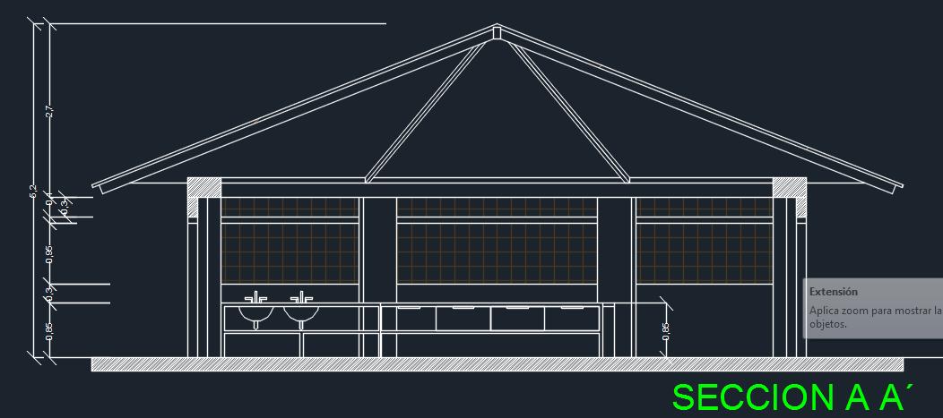 Multipurpose Wooden Kiosk With Hexagonal Structure 2d Dwg
