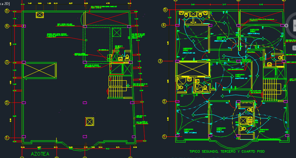 Seven Levels Two Stars Hotel 2d Dwg Design Detail For