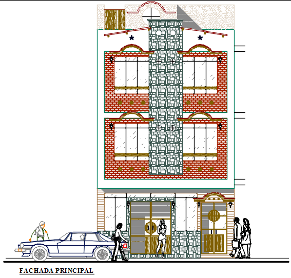 Small Hotel With Restaurant 2d Dwg Design Section For Autocad Designs Cad