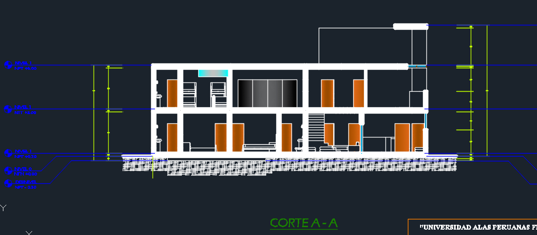 Two-Level Hotel With Garden 2D DWG Design Full Project for AutoCAD