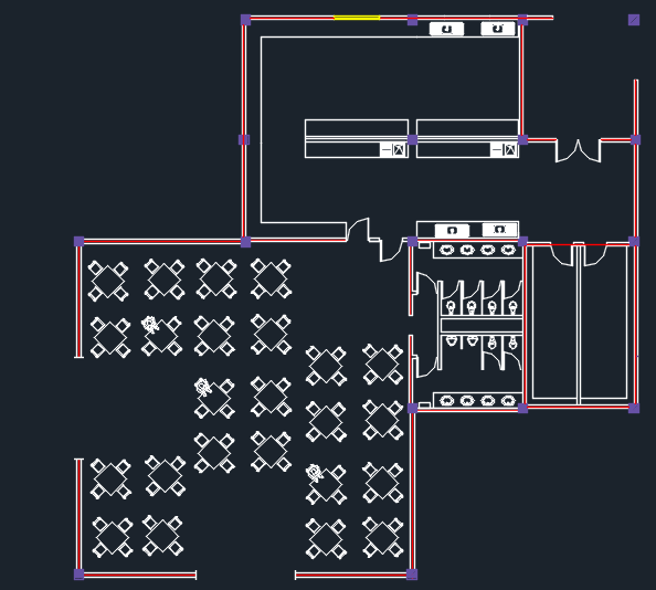 Restaurant Design Dwg : Two levels restaurant with floor plans d dwg design plan
