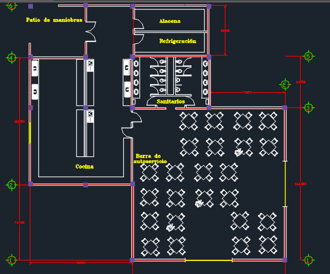 Two-Levels Restaurant With Floor Plans 2D DWG Design Plan for AutoCAD • Designs CAD