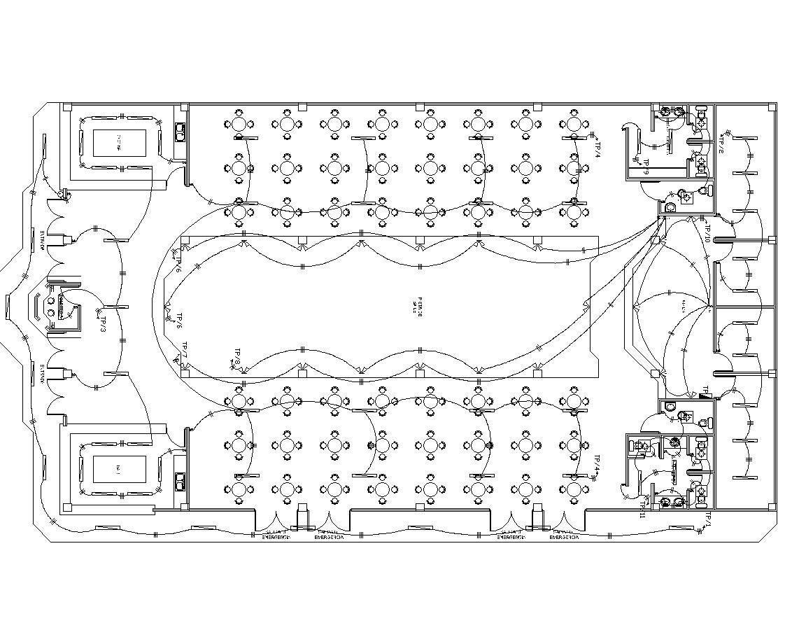 Community Hall Party Hall 2d Dwg Full Project For Autocad