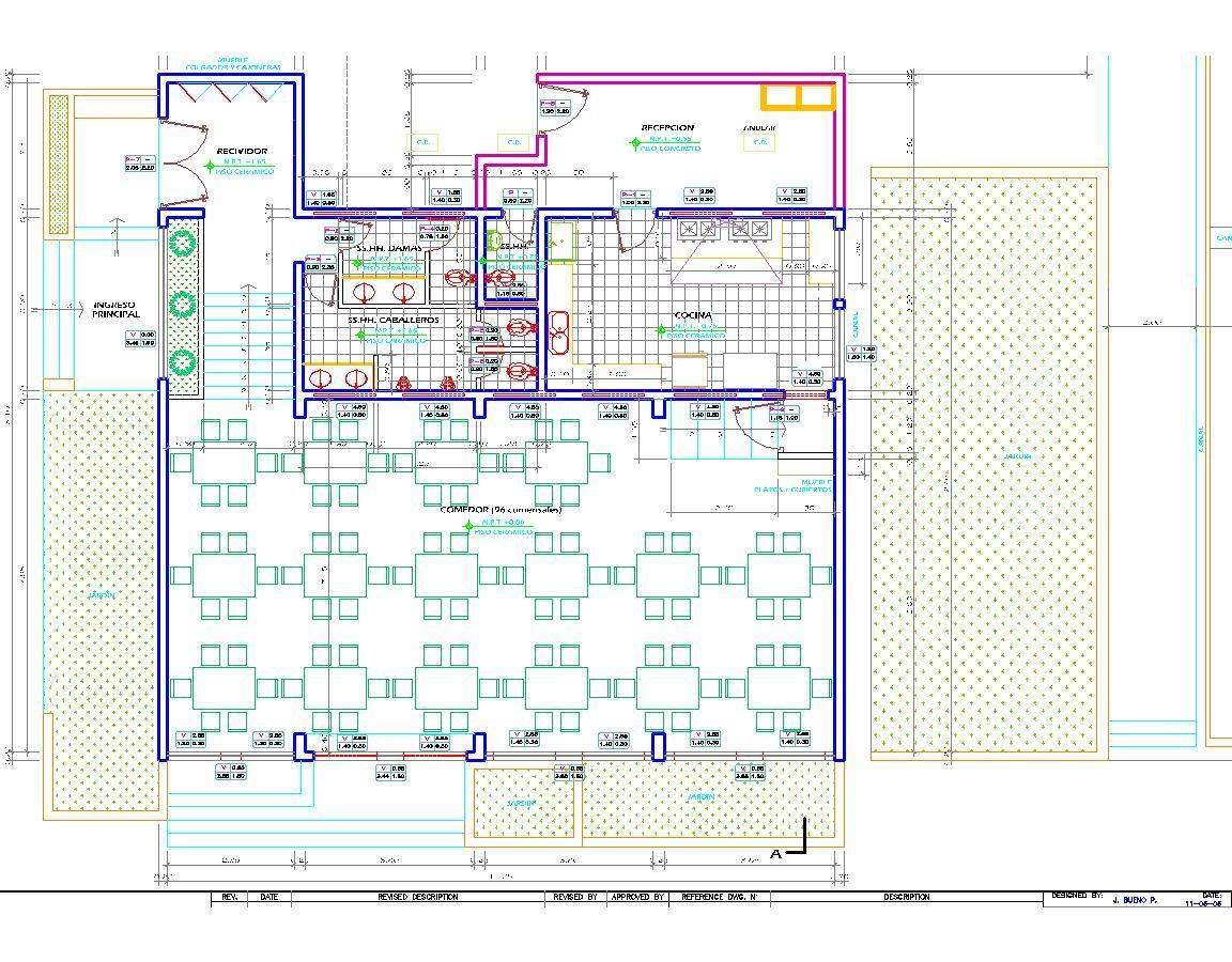Dining Room Restaurant Hotel Eatery 2d Dwg Plan For