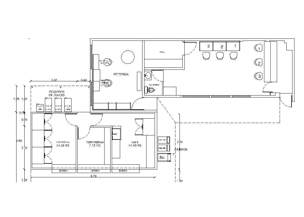 coffee bar 2d dwg plan for autocad  u2022 designs cad