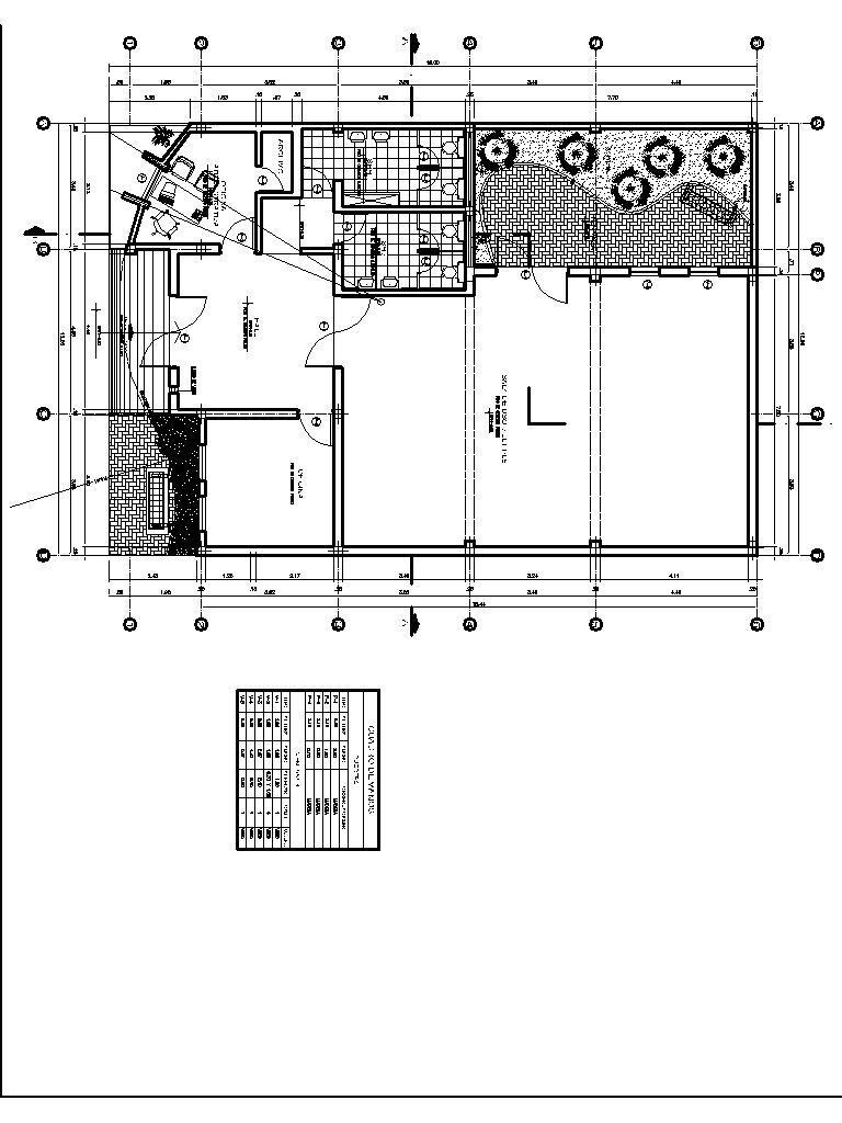 Community Center  Community Hall  Multipurpose Hall 2d Dwg