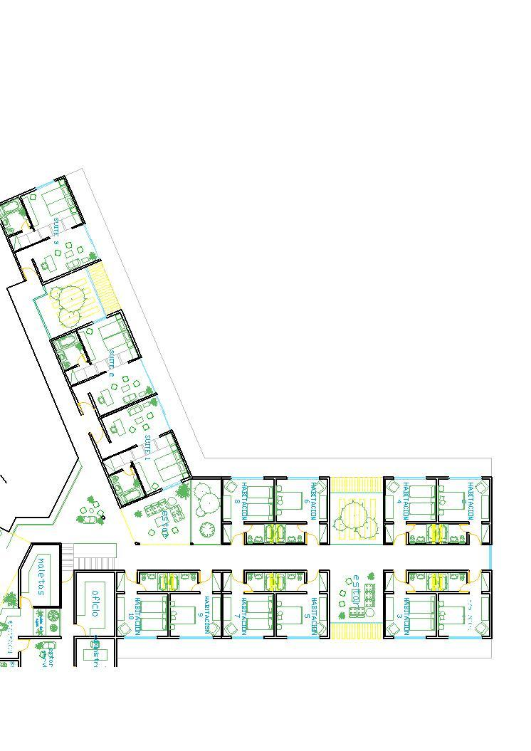Lodging Hotel Accommodation Lodge 2d Dwg Plan For