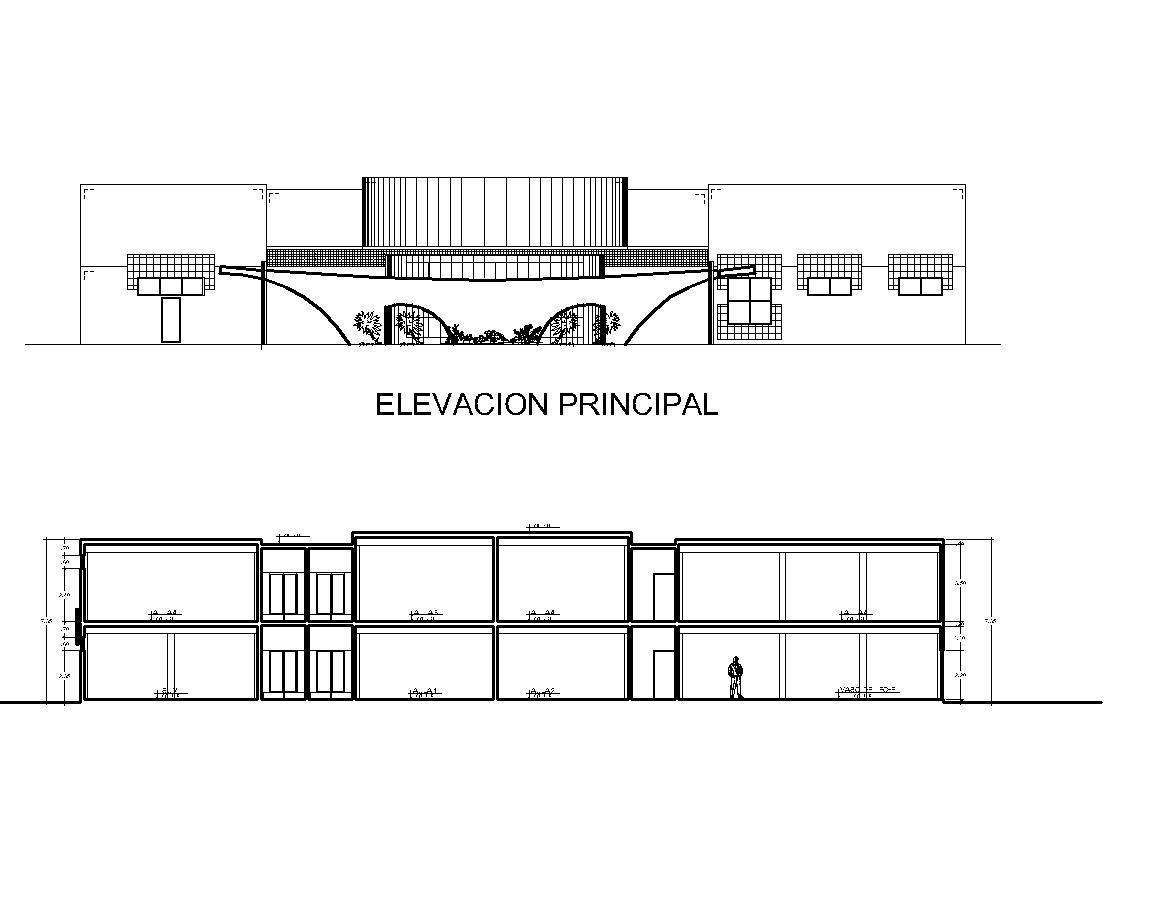 Community Center Multipurpose Hall 2d Dwg Plan For