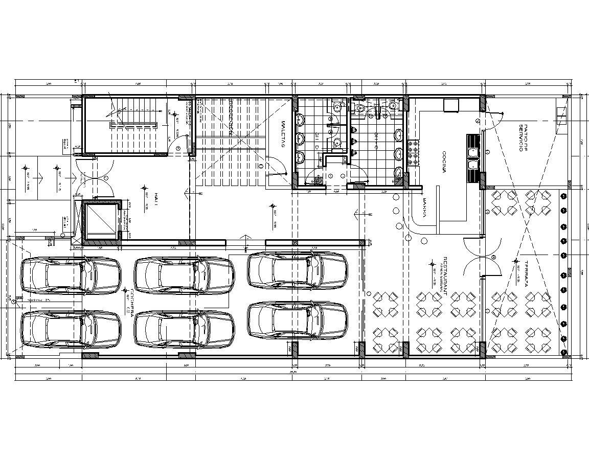 3 Stars Hotel Lodging Hotel Hotel 2d Dwg Plan For