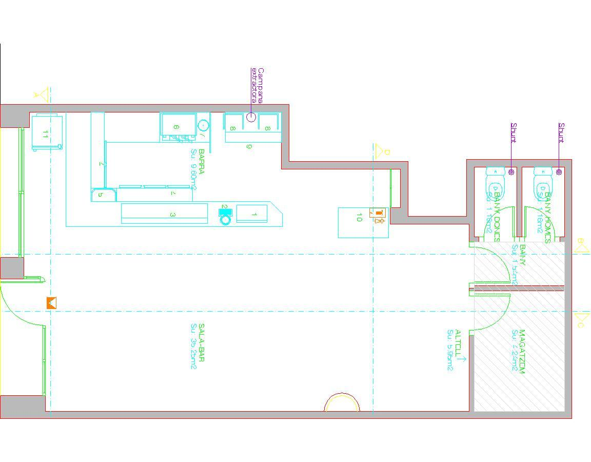 Coffee Bar Cafeteria Restaurant 2d Dwg Plan For Autocad