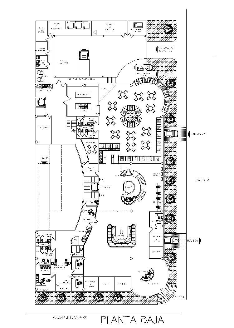 businesses hotel  lodging house  accommodation 2d dwg plan