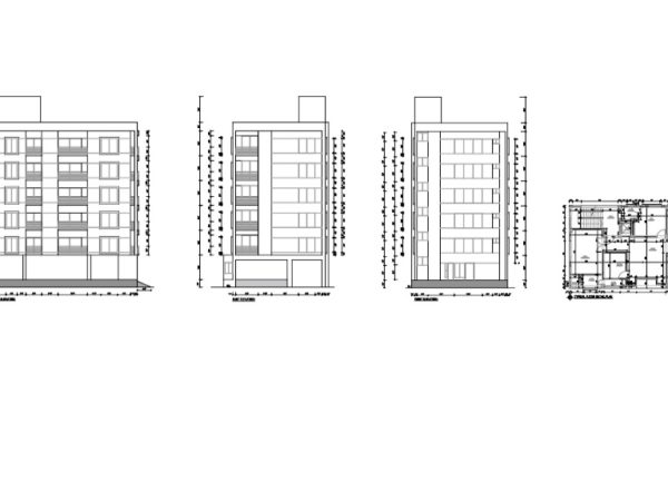 Elevation Of Mehedi Ali's Building DWG Elevation for AutoCAD